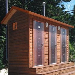 T130나무집형 3조 자연발효식 이동화장실