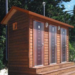 T131나무집형 와이드 이동화장실