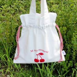 cherry bucket bag