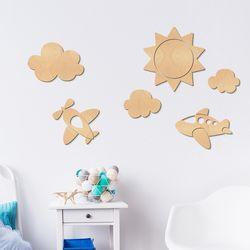 [우드스티커] 하늘 (반제품) W557H 아이방꾸미기 스티커