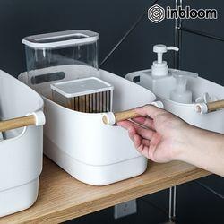 인블룸 우드손잡이 다용도 소품정리함 중형