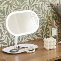 오즈 LED 거울 (타원형) 뷰티등 무드등 각도조절