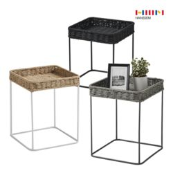 루미에 라탄 사각 테이블 (3종 택1)
