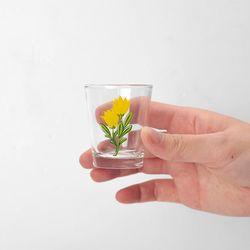 옐로우 튤립 소주잔 2개 세트