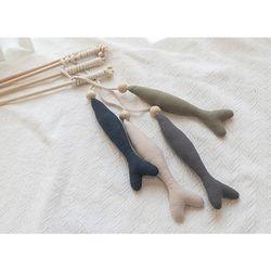 봉봉펫닷컴 고양이 물고기인형 낚시대 (색상랜덤)