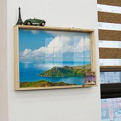 pc698-우드프레임액자아름다운휴양지(대형)