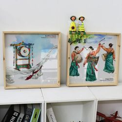 cl488-우드프레임액자한국전통춤