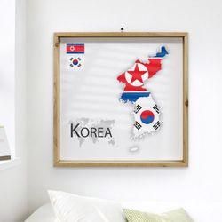 ii949-우드프레임액자나라별지도와국기3