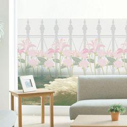 ta736-로망스울타리펜스와사랑꽃글라스시트지