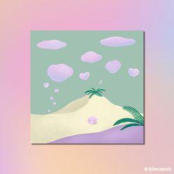 구름달 일러스트 엽서