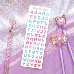 은하수 알파벳 씰스티커 핑크