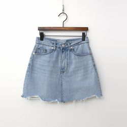 Free Denim Mini Skirt - 치마바지