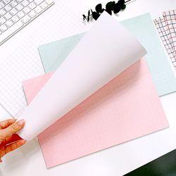 베이비 핑크 민트 화이트 모눈 랩핑지  포장지 (50매 떡제본)