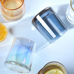 홈카페유리컵 오로라프리즘컵 홀로그램유리컵