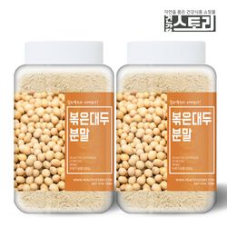 국내산 볶은 대두분말 300g X 2통 대두콩