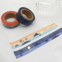 패턴(달력과 바다) 마스킹테이프