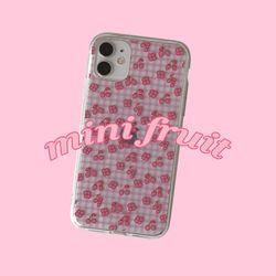 [뮤즈무드] mini fruit (clear) 아이폰케이스