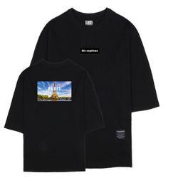 시티뷰 파리 7부 티셔츠 블랙