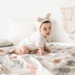 인견 아기 블랭킷 - 디노핑크