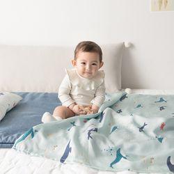 인견 아기 블랭킷 - 돌핀