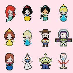 어린이 보석십자수 DIY 스티커형 디즈니 캐릭터