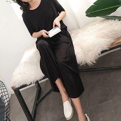 모달 원피스 잠옷 홈웨어 4color