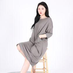 Long One-piece Soft Home wear(GREY)