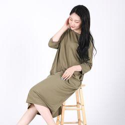 Long One-piece Soft Home wear(KHAKI)