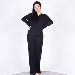 V-neck Soft Home wear SET(NAVY)