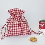 round cherry pouch