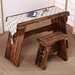 우드슬랩 조립식 원목고재테이블 나무테이블