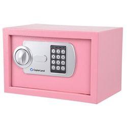 소형 금고 2중안전잠금장치 간단고정 CES 20 핑크