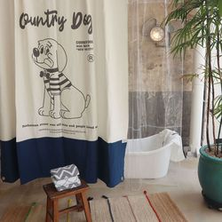 Country Dog Living Curtain