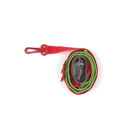 Pony Webbing Twoway Leash Red Green