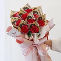 비누 돈 꽃다발 용돈 꽃다발 10송이 돈다발
