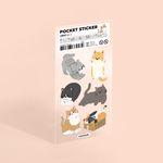 포켓 스티커 - 고양이 (no.1)