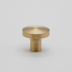 가구손잡이 원반 1구 9161-25mm(소) 골드무광