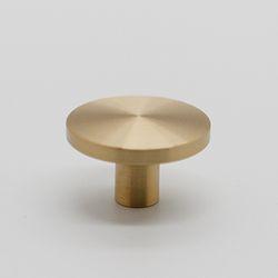 가구손잡이 원반 1구 9161-32mm(중) 골드무광