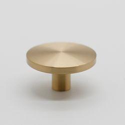 가구손잡이 원반 1구 9161-36mm(대) 골드무광