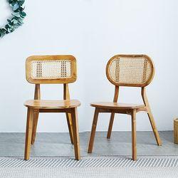 마들렌 라탄 의자 2types
