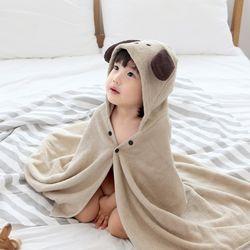 아기목욕가운 - 퍼피 (유아비치타올 신생아수건 샤워가운)