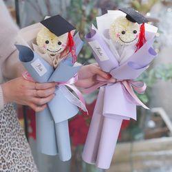 한송이 학사모 퐁퐁 비누 꽃다발 유치원 졸업식 어린이집