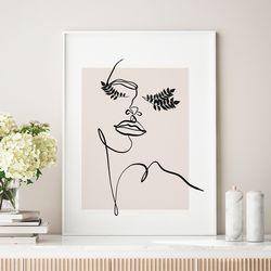 우먼리프 드로잉 액자 그림 A3 포스터