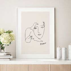 도브우먼 드로잉 액자 그림  A3 포스터