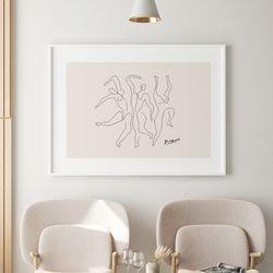 댄스 드로잉 액자 그림  A3 포스터