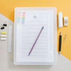 A4 서류 투명 파일케이스 대형 FC01 1 + 1