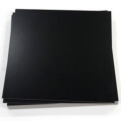 비점착 사각데코타일 3T 솔리드블랙 (T2322)