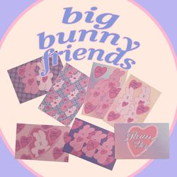 postcard ver.18 big bunny friends