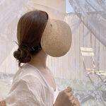 여름 밴딩 라피아 썬캡 헬렌 밀짚 모자