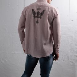 그린바나나 남자 긴팔 셔츠 남방 craft eastwing pink